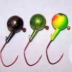 3 walleye jigs
